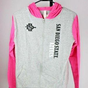 Jackets & Blazers - San Diego State Aztecs Full-Zip Hooded Jacket